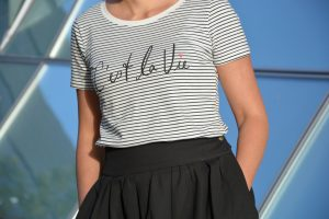 Streifenshirt C'est la vie