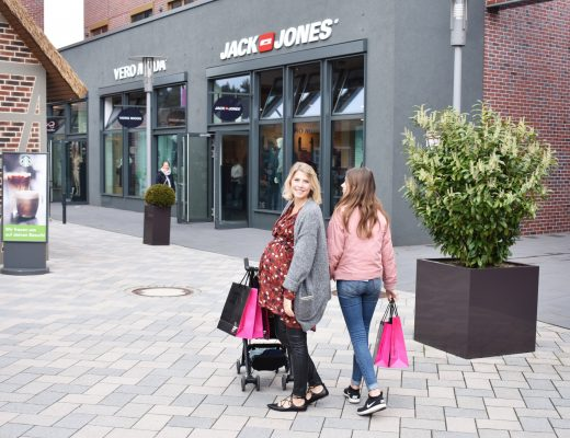 outlet, shopping, familie, mama log