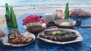 Frischer Fisch am Bingin Beach Bali