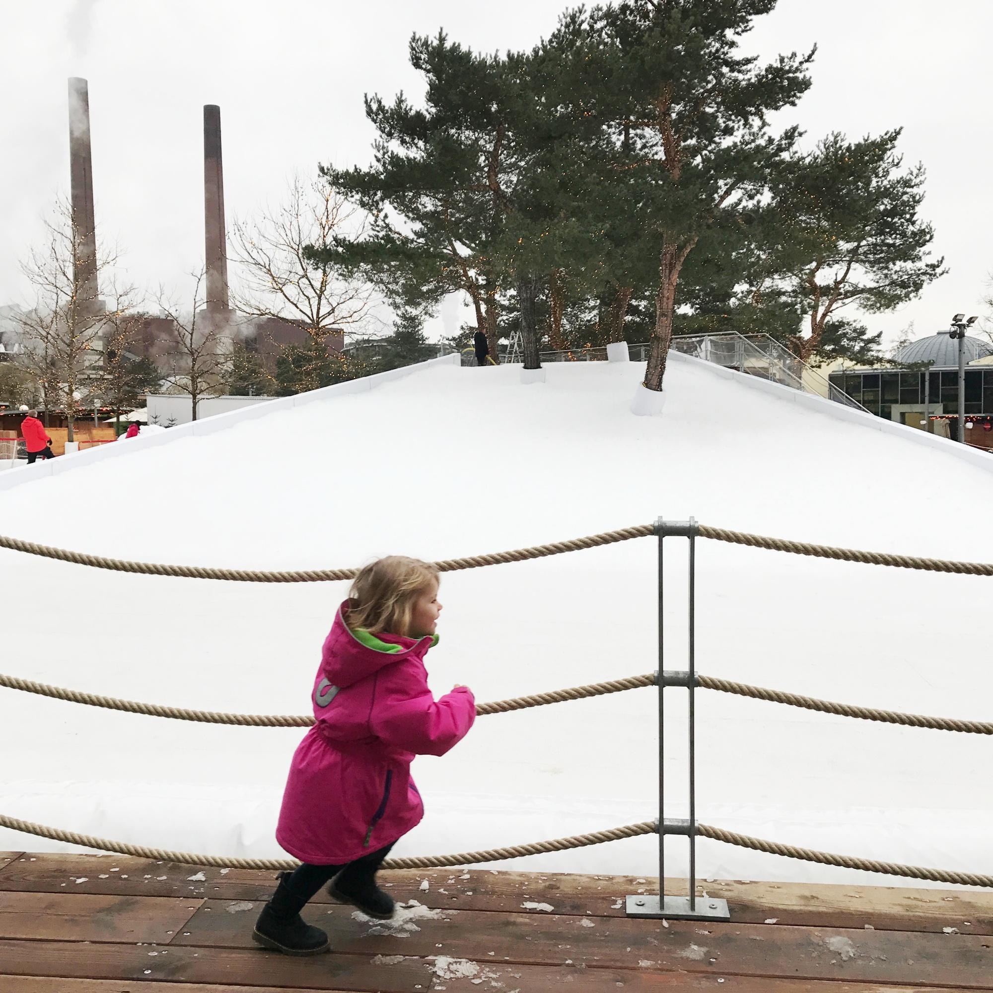 Schnee Autostadt