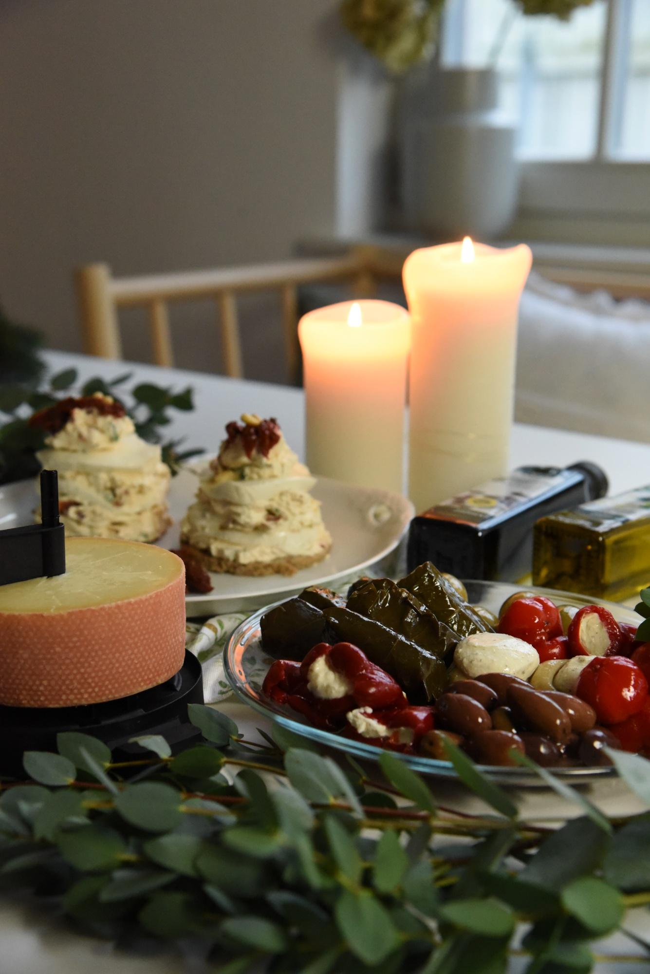 Weihnachten Käseplatte